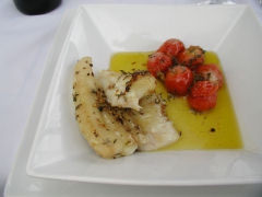 Vinedo de los Vientos - cazon and cherry tomatoes
