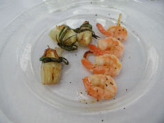 Vinedo de los Vientos - grilled shrimp