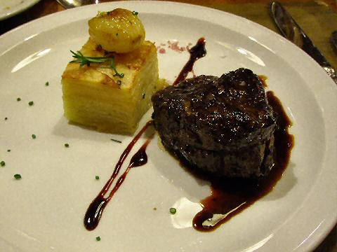 Medallions of beef in Malbec reduction