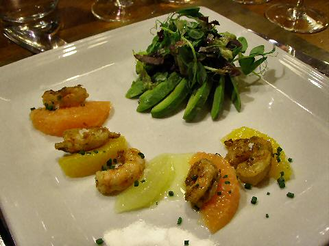 Grilled shrimp with citrus