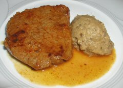 Berbere marinated Steak with Eggplant Puree