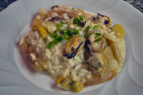 Mussel and Smoked Plantain Risotto