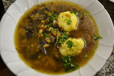Mushroom Soup with Potato Dumplings