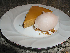Casa SaltShaker - butternut mousse pie and young ginger sorbet
