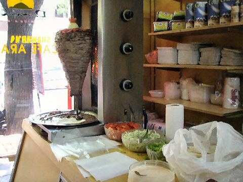 Demashk - the shawarma cook station