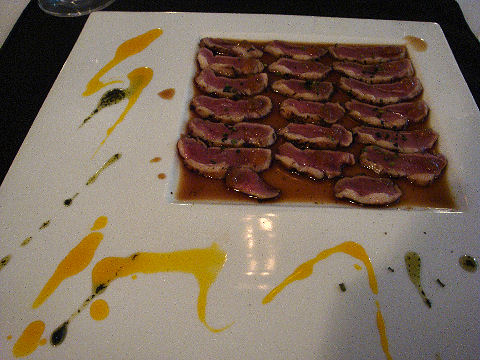 eXperimental raw bar - duck tataki