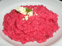 Eliot - beet and blue cheese risotto
