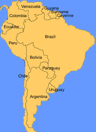 Argentina geography lesson outline map of south america gumiabroncs Image collections