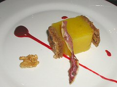 Thymus - sweet potato lemon terrine